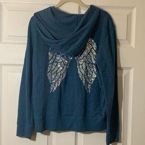Victoria's Secret Tops - Victoria's Secret  Angel Wings   Hoodie Sweatshirt